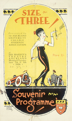 Size Three; presented by the Auckland University College Students' Association, at His Majesty's Theatre, Auckland... 1926.