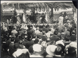 Edward Prince of Wales addressing a crowd at Pukekohe, New Zealand