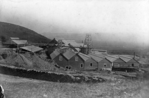 Waihi Gold Mining Company buildings at Martha Mine, Union Hill, Waihi