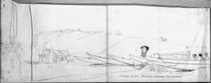 [Ashworth, Edward] 1814-1896 :Oneunga Beach, Manukao Harbour, New Zealand. [1843]