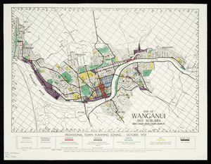 Map of Wanganui and suburbs [cartographic material] : provisional town planning zoning, October, 1959.
