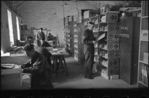 Medical Records Section at Maadi Camp, Egypt, World War II - Photograph taken by George Bull