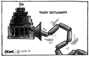 Evans, Malcolm Paul, 1945- :Treaty settlements. 4 April 2012
