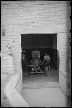 Water pump at Digla, Egypt, World War II - Photograph taken by George Bull