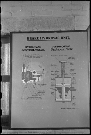 Diagram of a Staghound brake hyrovac unit at the NZ Armoured Training School at Maadi Camp, Egypt - Photograph taken by George Bull