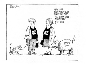 Tremain, Garrick :Yeah cute...but when you first get one you think it'll always be that size. Otago Daily Times, 5 October 1998.
