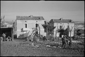 Typical houses near Castelfrentano, Italy, in which NZ troops were billetted during World War II - Photograph taken by George Kaye