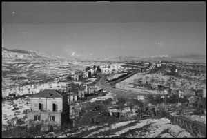 View from the town of Castelfrentano, Italy, including area where NZ troops engaged during World War II - Photograph taken by George Kaye