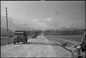 Metalled roads in the Volturno Valley, Italy, World War II - Photograph taken by George Kaye