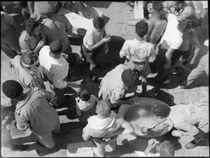 Lemonade refreshments at 19 NZ Armoured Regiment swimming sports, Cairo - Photograph taken by G Kaye