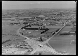 The development of the Southern Motorway, looking towards Otahuhu, Auckland