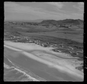 Waihi Beach, Bay of Plenty, includes beach, roads, housing and farmland