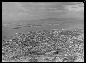 Auckland City and Harbour, including Rangitoto Island in the distance