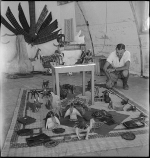 General display of occupational therapy work at 2 NZGH Kantara, Egypt - Photograph taken by George Kaye