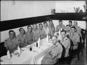 Tararua Tramping Club reunion dinner in Cairo, World War II - Photograph taken by George Kaye