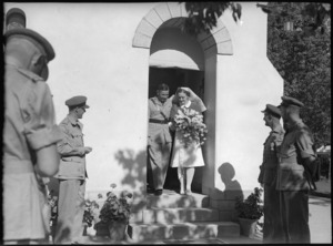 Wedding of Miss J K Tayler to Lieutenant Colonel T B Morten, Maadi - Photograph taken by G Bull
