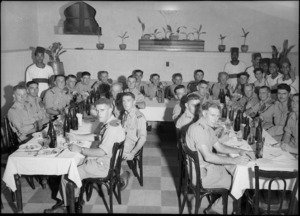 Manurewa District Reunion Dinner in Cairo, World War II - Photograph taken by George Bull