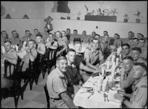 West Otago District Reunion Dinner in Cairo, World War II - Photograph taken by George Bull