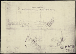 New Zealand. Public Works Department: Ferry reserves, Mongatainoko and Manawatu rivers [copy of ms map]. A.C. Koch, W.G. Collington Swan, 1880.