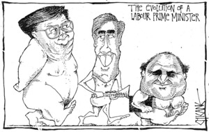 Winter, Mark, 1958- :The Evolution of a Labour Prime Minister. [Southland Times? ca 1990].