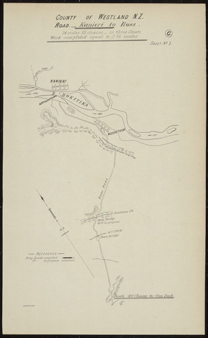 County of Westland N.Z. road [cartographic material] / A. Koch, delt.