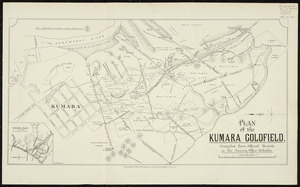 Plan of the Kumara goldfield [cartographic material] : compiled from official records in the Survey Office, Hokitika / C.H. Pierard, del.