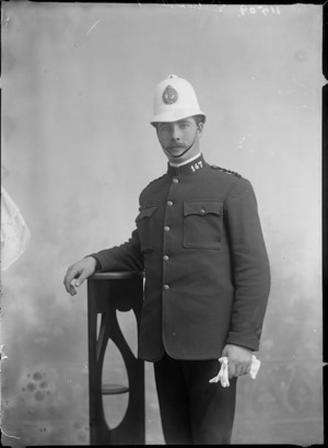 Portrait of an unidentified police officer - Photograph taken by Berry and Company