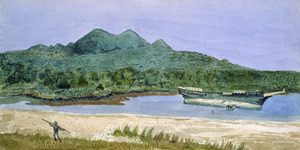 Hands, Alfred Watson, 1849-1927 :East side of island, Rangitoto, Auckland, 1887