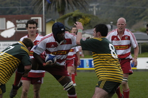 Photographs relating to rugby match between West Coast and Mid Canterbury
