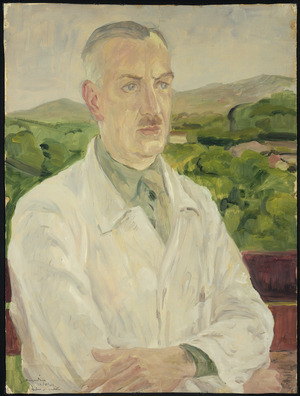 Artist unknown :[Portrait of Dr W H B Bull] 25 March 1943