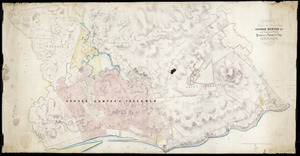 Koch, Augustus Carl Ferdinand, 1834-1901 :Plan showing the property of George Hunter Esq in the Porongahau [Porangahau] District of Hawke's Bay New Zealand [ms map]. Drawn by A Koch Napier 1865
