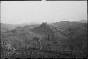 Small village of Avellino dominated by its castle, southern Italy - Photograph taken by George Bull