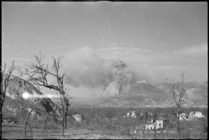 Bombing of the Benedictine Monastery on Monte Cassino, Italy, World War II - Photograph taken by George Kaye