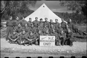Staff of NZ Reinforcement Transit Unit on 5th Army Front, Italy, World War II - Photograph taken by George Bull