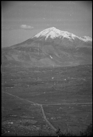Via Casilina with Monte Cairo in the background, Italy, World War II - Photograph taken by George Kaye