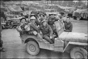 Group of New Zealanders on the Monte Cassino Front, Italy, World War II - Photograph taken by George Kaye