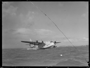 Short Empire flying boat 'Awarua', on an unidentified harbour