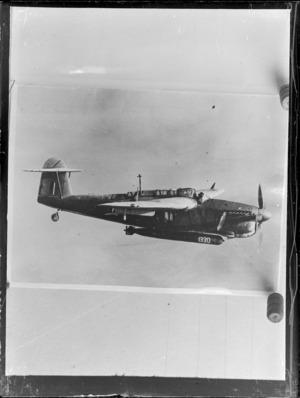 A Fairey Barracuda aeroplane in flight