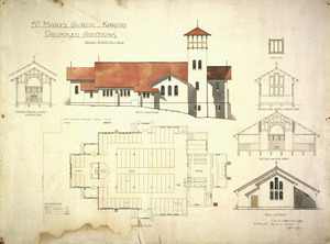 Clere, Frederick de Jersey 1856-1952 :St Mary's Church, Karori. Proposed additions 1917