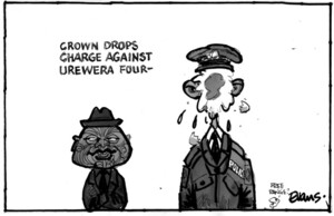 Evans, Malcolm Paul, 1945- : Crown drops charge against Urewera Four. 9 May 2012