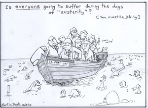 Doyle, Martin, 1956- :Is everyone going to suffer during the days of 'austerity'?. 16 May 2012