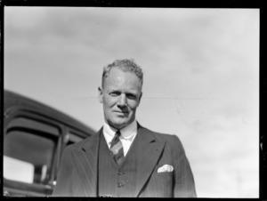 Portrait of E G Betts, Senior Airways Supervisor Australia and member of the Australian Air Delegation Feb 1946, Auckland