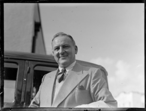Portrait of D M McVey, Director-General Civil Aviation Australia and member of the Australian Air Delegation Feb 1946, Auckland