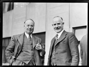 Cadman, F.B. (Auck) Cadwallader, T. (Wellington), Vice Presidents, at annual meeting of RNZAC in Wellington, 25/7/45