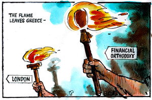 Evans, Malcolm Paul, 1945- :The flame leaves Greece. 18 May 2012