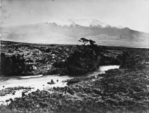 Poutu Stream and Mount Tongariro