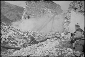 Smoke screen used by soldiers on manoeuvres in the Cassino area, Italy - Photograph taken by George Kaye