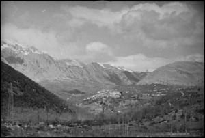 Typical view of village among the mountains in the Volturno Valley, Italy - Photograph taken by George Kaye