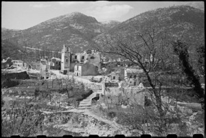 Demolished village of Casale in the Cassino area, Italy, World War II - Photograph taken by George Bull