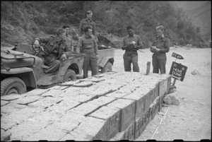 Checking out ammunition for forward troops at Hove Dump, Cassino area, Italy, World War II - Photograph taken by George Bull
